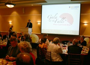 9th Annual Gala at the Falls benefit dinner and auction
